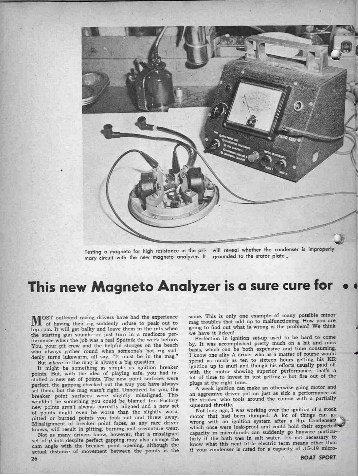merc o tronic model 98  98a magneto testers from years ago